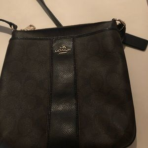Coach crossbody brown and black